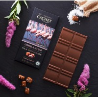 Шоколад Cachet Milk Chocolate Caramel Sea Salt Organic 40% (100 г)