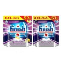 Таблетки для посудомоечных машин Finish Powerball Quantum Max (57 шт)