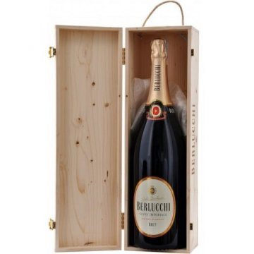 Игристое вино Guido Berlucchi Cuvee Imperiale Brut Mathusalem, wooden box (6 л)