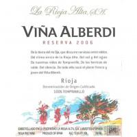 Вино La Rioja Alta Vina Alberdi Reserva, 2006 (0,75 л)