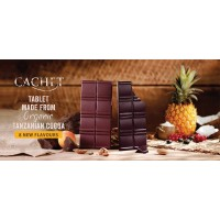 Шоколад Cachet Dark Chocolate Pineapple & Coconut Organic 57% (100 г)
