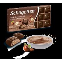 Шоколад Schogetten Dark Chocolate with Cocoa & Hazelnuts (100 г)