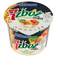 Йогурт Bakoma 7 злаков персик, злаки, семена подсолнуха и тыквы (300 гр)