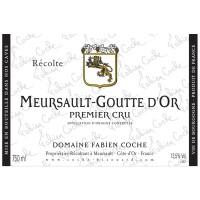 Вино Domaine Fabien Coche Meursault-Goutte D'Or 1er Cru, 2017 (0,75 л)