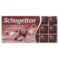 Шоколад Schogetten Dark Chocolate with Cocoa Hazelnut (100 г)