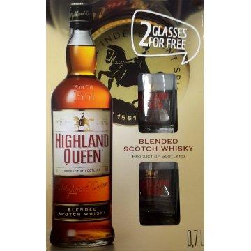 Виски Highland Queen 0,7 л (в подарочной коробке с двумя бокалами)
