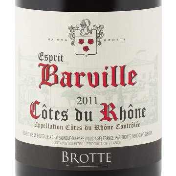 Вино Brotte S.A. Cotes du Rhone Esprit Barville Rouge (0.75 л)