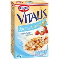 Мюсли Dr.Oetker Vitalis Joghurt mit Erdbeer stuckchen (600 г)
