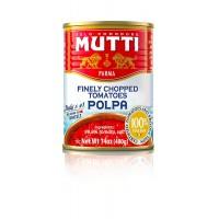 Очищенные порезанные помидоры Mutti Polpa (400 г)