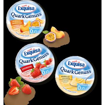 Сырный десерт Exquisa персик-маракуйя 0,2% (500 г)