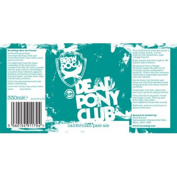 Пиво BrewDog Dead Pony club (0,33 л)