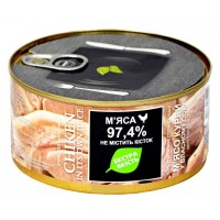 Мясо куриное в собственном соку ГОСТ ТМ Zdorovo ж / б (325 г)