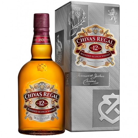 Chivas Brothers / Виски Chivas 12 Years Old (1 л) + Стакан