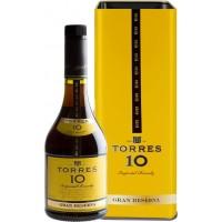 Бренди Torres 10 Gran Reserva 0.7л в металлической коробке (DDSAT1A018)