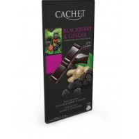 Шоколад Cachet Dark Chocolate Blackberry&Ginger, 100 г