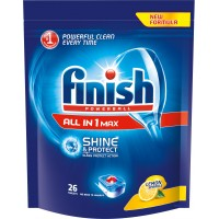 Таблетки для посудомоечных машин Finish Powerball All in One MAX Lemon (42 шт)