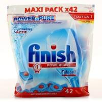 Таблетки для посудомоечных машин Finish Powerball All in One MAX Pure (42 шт)