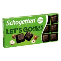 Шоколад Schogetten Lets Go Nuts in dark (100 г)
