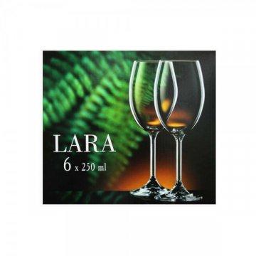Набор бокалов для вина Bohemia Lara 250 мл, 6 шт.
