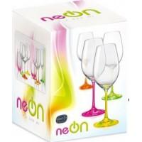 Набор бокалов для вина Bohemia Neon 350 мл, 4 шт.