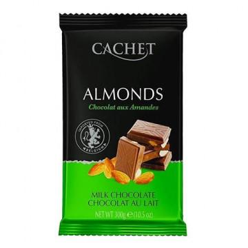 Премиум шоколад Cachet 32% Milk Chocolate with Almonds, 300г